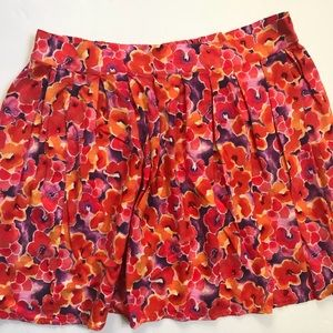 Frenchi Floral pleated Skirt